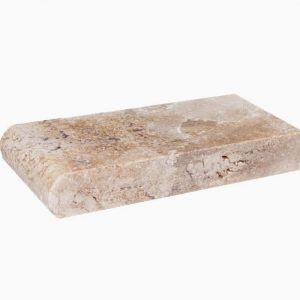 "Country Classic 4""x9"" Travertine Coping 1 4x9x4 Country Classic Premium Select Tumbled Travertine Coping"