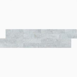 "White Wood 6""x24"" Splitface Ledger Panel 11 6x24 White Wood Premium Select Splitface Ledgestone Marble Panel"