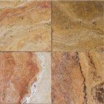 "Autumn Blend 6""x6"" Travertine Tile 2 6x6 Autumn Blend Premium Select Tumbled Travertine Tile"
