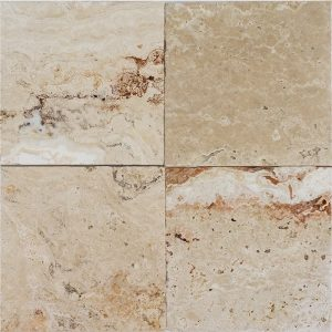 "Leonardo 6""x6"" Travertine Tile 2 6x6 Leonardo Premium Select Tumbled Travertine Tile"