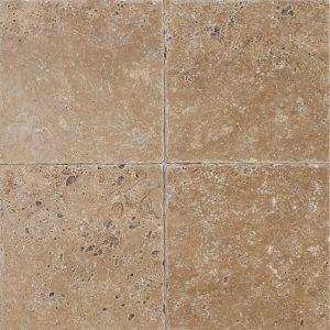 "Noce 6""x6"" Travertine Tile 16 6x6 Noce Premium Select Tumbled Travertine Tile"