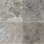 "Silver 6""x6"" Travertine Tile 2 6x6 Silver Premium Select Tumbled Travertine Tile"