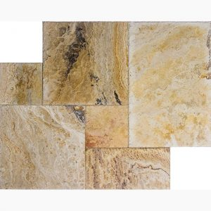 Autumn Blend French Pattern Travertine Tile 11 French Pattern Autumn Blend Premium Select Travertine Tile