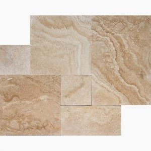 Ivory Classic French Pattern Travertine Tile 11 French Pattern Ivory Classic Premium Select Tumbled Travertine Paver