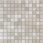 """Ephesus 1""""x1"""" Marble Mosaic 1 1x1 Ephesus Polished Marble Mosaic"""