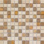 1×1-Mix-Multi-Color-Tumbled-Travertine-Mosaic