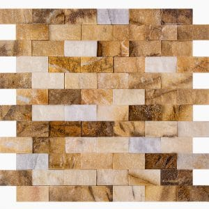 """Picasso 1""""x2"""" Marble Mosaic 15 1x2 Picasso Premium Splitface Marble Mosaic"""