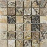 "Antique Onyx 2""x2"" Travertine Mosaic 1 2x2 Antique Onyx Polished Travertine Mosaic"
