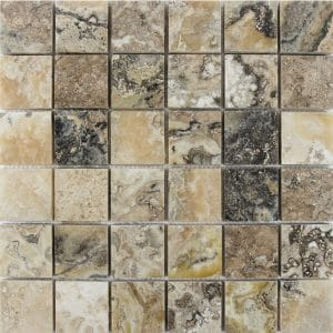 "Antique Onyx 2""x2"" Travertine Mosaic 2 2x2 Antique Onyx Polished Travertine Mosaic"