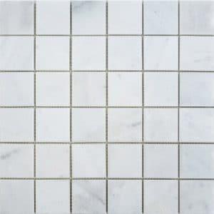 "Bianco Ibiza 2""x2"" Marble Mosaic 8 2x2 Bianco Marble Mosaic"