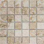 "Cappuccino 2""x2"" Marble Mosaic 1 2x2 Cappuccino Marble Mosaic"