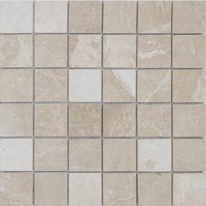 "Ephesus 2""x2"" Marble Mosaic 2 2x2 Ephesus Marble Mosaic"