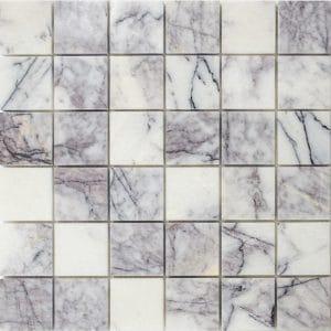 "White Lilac 2""x2"" Marble Mosaic 5 2x2 Lilac White Polished Marble Mosaic"