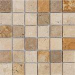 "Mix-Multi Color 2""x2"" Travertine Mosaic 2 2x2 Mix Multi Color Travertine Mosaic"