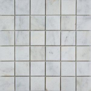 """White Pearl 2""""x2"""" Marble Mosaic 6 2x2 White Pearl Marble Mosaic"""
