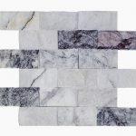 "White Lilac 2""x4"" Marble Mosaic 2 2x4 White Lilac Splitface Marble Mosaic"