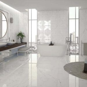 Calacatta Porcelain 5 Calacatta White Porcelain Rectified tile General project pic