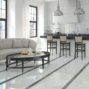 Calacatta Porcelain 6 Calacatta White Porcelain Rectified tile Polished project pic