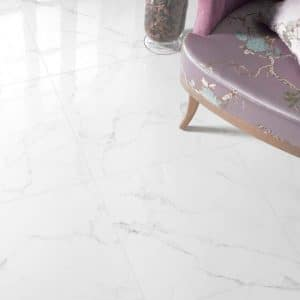 Calacatta Porcelain 7 Calacatta White Porcelain Rectified tile Shiny project pic