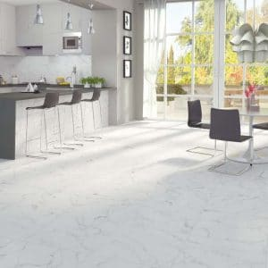 Calacatta Porcelain 9 Calacatta White Porcelain Rectified tile white 2 project pic