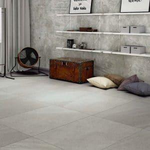 Porcelain limestone 25 Limestone Beige Porcelain rectified tile project pic