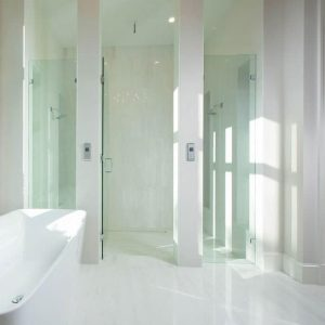Thassos 7 Thassos Marble Tile Bathroom Floor Wall Project Pic