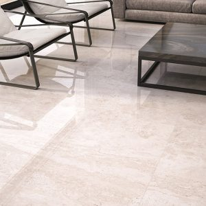 Travertino 9 Travertino Beige Porcelain Rectified tile Project pic