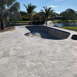 Tundra Gray 14 Tundra Gray 12x24 Marble Paver Poolside Project Pic