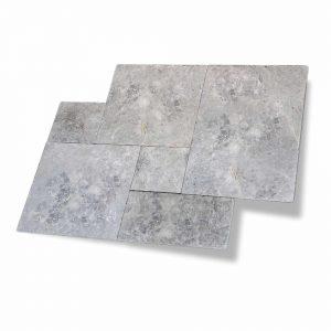 Tundra Gray French Pattern Marble Paver 14 Tundra Gray Marble French Pattern Paver Product Pic
