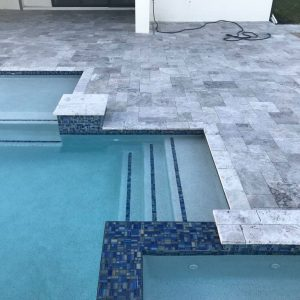 Tundra Gray 13 Tundra Gray Marble Paver 6x12 Poolside project pic