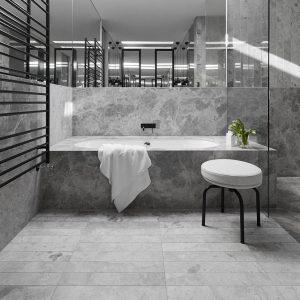 Tundra Gray 17 Tundra Gray Marble Tile Bathroom Floor Shower Design Pic