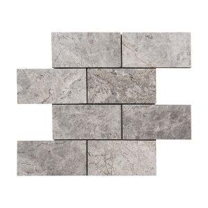 """Tundra Gray 3""""x6"""" Subway Marble Mosaic 8 stoneline tundra grey 3x6 marble mosaic tile5"""