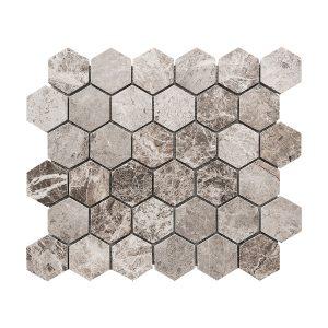 Tundra Gray Hexagon Marble Mosaic 4 stoneline tundra grey hexagon marble mosaic tile5