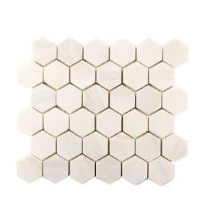 Dolomite Hexagon Marble Mosaic 2 dolomite hexagon marble mosaic