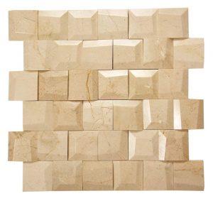 Adamant Crema Marfil Geometric Beveled Marble Mosaic 2 adamant crema marfil geometric beveled marble mosaic