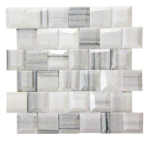 Adamant Marmara Geometric Beveled Marble Mosaic 3 adamant marmara geometric beveled marble mosaic