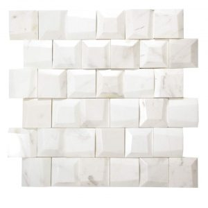 Adamant Volakas Geometric Beveled Marble Mosaic 5 adamant volakas geometric beveled marble mosaic