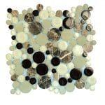 Agata Circle Emperador Bubble Glass Mosaic 2 agata circle emperador bubble glass mosaic
