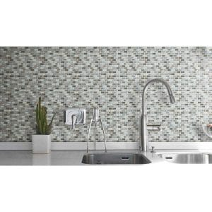 Home 33 agata shell beige mix bubble glass mosaic project picture