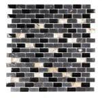 Agata Shell Black Subway Mix Mosaic 1 agata shell black subway mix mosaic