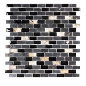 Agata Shell Black Subway Mix Mosaic 12 agata shell black subway mix mosaic