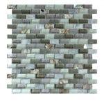 Agata Shell Grey Subway Mix Mosaic 2 agata shell grey subway mix mosaic