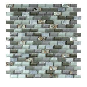 Agata Shell Grey Subway Mix Mosaic 20 agata shell grey subway mix mosaic