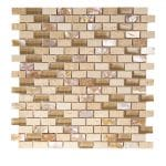 Agata Shell Noce Subway Mix Mosaic 2 agata shell noce subway mix mosaic