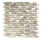 Agata Shell Silver Subway Mix Mosaic 2 agata shell silver subway mix mosaic
