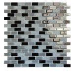 Basic Cross Black Glass Mosaic 1 basic cross black glass mosaic