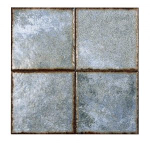 "Benisa Blue 6""x6"" Porcelain Mosaic 9 benisa blue 6x6 porcelain mosaic"