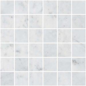 """Bianco Carrara 2""""x2"""" Marble Mosaic 8 bianco carrara 2x2 marble mosaic"""