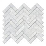 bianco-carrara-herringbone-marble-mosaic