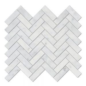 Bianco Carrara Herringbone Marble Mosaic 10 bianco carrara herringbone marble mosaic